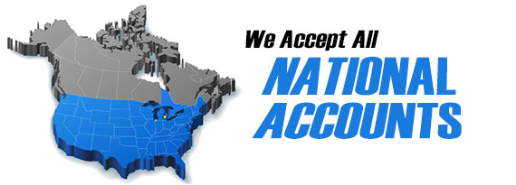 We Accept ALL National Accounts