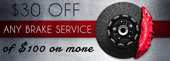 $30 Off Any Brake Service of $100 or more